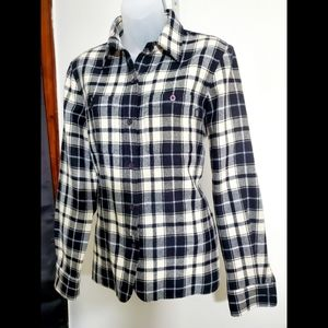 RALPH LAUREN Jeans CO Black & Cream Flannel Shirt